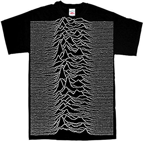 Refugeek Tees Joy Division T-Shirt Officiel – Unknown Pleasures Big Print – Noir – Petit