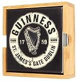 Guinness Official Merchandise Posavasos de cerámica con diseño de botella, paquete de 4 unidades