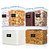 Vtopmart Airtight Food Storage Containers 6 Pieces - Plastic PBA Free...