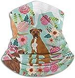 Bóxer para perro y flores bonitas, privacidad, forro polar, calentador de cuello, polainas, diadema, protección UV, para fiestas