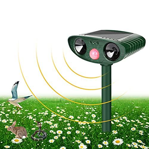 Ultraschall Abwehr Katzenschreck, Tiervertreiber Solar Batteriebetrieben, Wasserdicht Katzenschreck Tiervertreiber Marderabwehr Hundeschreck Zur Abwehr für Katzen, Vögel, Mäuse, Hunde