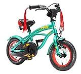 BIKESTAR Premium Sicherheits Kinderfahrrad 12 Zoll für Jungen ab 3-4 Jahre 12er Kinderrad Cruiser Fahrrad für Kinder Grün