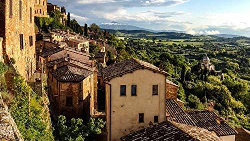kecoci Rompecabezas para Adultos Rompecabezas de 1000 Piezas Toscana Rompecabezas de Madera Juguete de Descompresion para Adultos Ninos -50x70cm