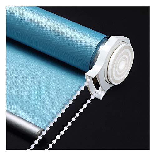 Rolgordijn met oprolmechanisme, ondoorzichtig, voor ramen, decoratief gordijn, waterdicht, isolatie in de winter, elektrische snit, blauw/grijs, maat 34 60cmx200cm B