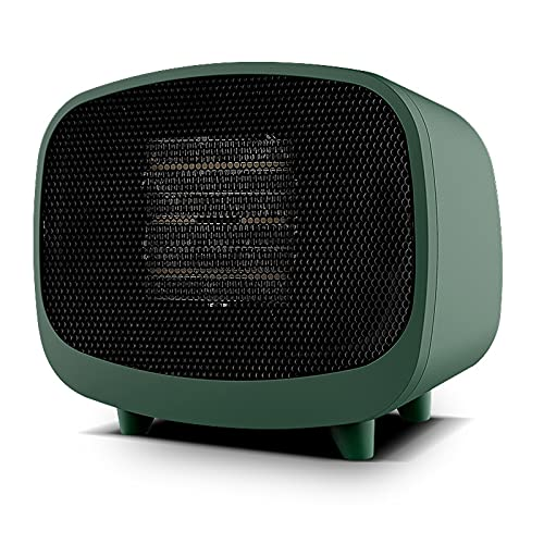 LTLJX Calefactor Cerámico, Silence Rápido Calentamiento, 2 velocidadesm, Sensor Antivuelco, para Espacio Pequeño Dormitorio Oficina Hogar,Verde