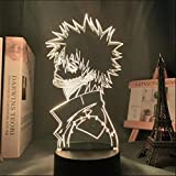 3D nightlight Sleep lamp for Boys,My Hero Academia DABI LED Anime Boku no Hero Academia Visual Table,7 Colors Change