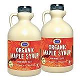チブギス 有機JAS認定オーガニック メープルシロップ 1,320g x 2本セット グレードA(ダークロバストテイスト) CIVGIS Organic Maple Syrup 1,320g x 2pcs ( Dark Robust Taste ) Grade A