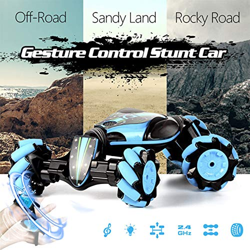 Review OLATELI Remote Control Stunt Toy Car, 2.4G Remote Control Stunt Car with Four-Wheel Drive, RC...