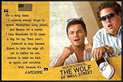 The Wolf of Wall Street Poster Awesome (62x93 cm) gerahmt