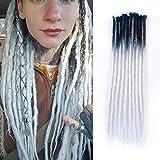 Dsoar Synthetic Dreads 24 Inch 10 Strands Handmade Dreadlocks Extensions Ombre Dreadlocks Twist Braiding Hair Crochet Reggae Dreads (2-25#)