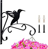 Totoose 2-Packed Hanging Plants Bracket 10.4' Wall Planter Hook Outdoor for Flower Pot Wind Chime Planter Lanterns Bird Feeder Hanger with Screws