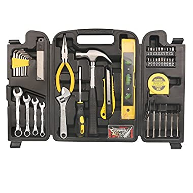 DOWELL 90 Pieces Homeowner Tool Set , Home Repair Hand Tool Kit with Plastic Tool box Storage Case