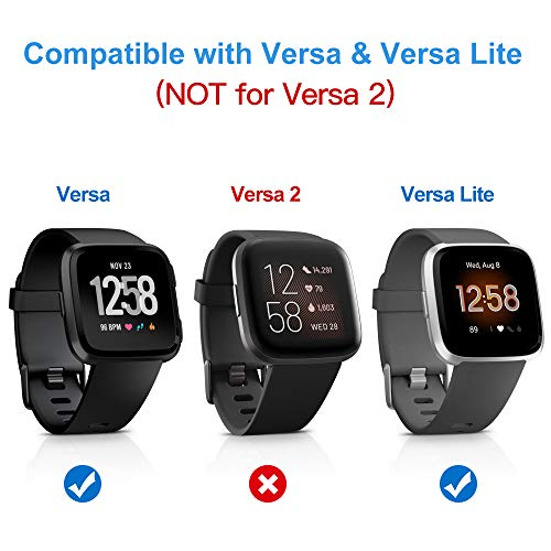 KIMILAR Screen Protector compatible with Fitbit Versa/Versa Lite (NOT FOR VERSA 2), (3 Pack) Shatterproof Shield Tempered Glass Screen Protector for Fitbit Versa/Versa Lite/Special Edition