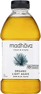 Madhava Naturally Sweet Organic Blue Agave Low-Glycemic Sweetener, Golden Light, 46 Ounce (Pack of 2)