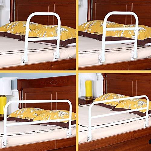 YYFANG Barandilla Cama, Plegar Fácil Instalación No Hay Necesidad De Golpear Multi-Cama Universal, Adecuado para Ancianos, Mujeres Embarazadas, Niños Y Adultos. (Color : White, Size : 90cm-B)