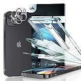 LϟK 4 Pezzi Pellicola Vetro Temperato per iPhone 13 5G 6.1 Pollici - 2 Pezzi Schermo Pellicola + 2 Pezzi Fotocamera Posteriore Pellicola - Anti-Blu 9H HD Salvaschermo con Kit D'Installazione