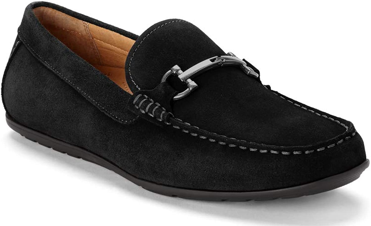 Vionic Men's Mercer Mason Driving Moccasins – Leather Suede Loafer for Men with Concealed Orthotic Support