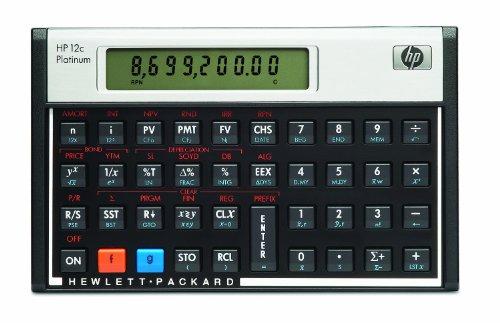 Hewlett Packard HP12C Finanzmathematischer Taschenrechner UPN algebraisch programmierbar Platin