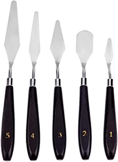5pcs Stainless Steel Spatula Palette Knife Painting Mixing Scraper Set