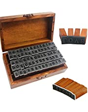 70 Pcs Alphabet Stamps Set,Wood Rubber Alphabet Letter Number Stamps with Wooden Storage Box for DIY Scrapbook,Gift Card and Crafts