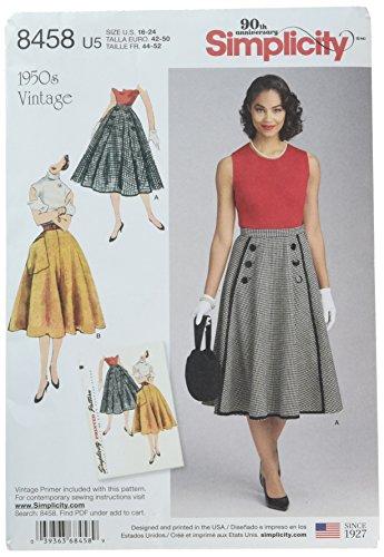 Simplicity Creative Patrones Faldas y Pantalones, U5 (16 – 18 – 20 ...