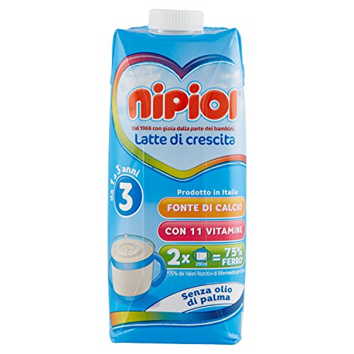 Nipiol Latte Liquido 3 - 12 confezioni da 500 ml - Totale: 6 l