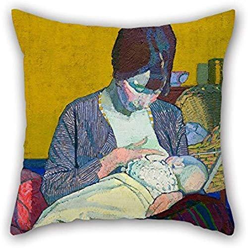 zhaoyang Divertida y duradera pintura al óleo Harold Gilman – Funda de almohada para el día de San Valentín para madre y niño.