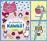 Je dessine kawaii ! 60 dessins étape par étape - Coffret avec 1 livre, 1 cahier de dessin, 2 carnets à emporter partout, 1 crayon à papier et 1 gomme