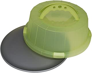 OvenStuff Non-Stick Cake and Pastry Carrier with Matching Spring Green Cover and Handles