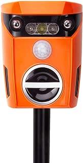 Vensmiles AR01 New Outdoor Ultrasonic Solar Cat Repeller with Flashing LED Light Smart Motion Activated Keep Away Dog Fox Raccoon Deer Bird, Orange