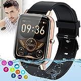 Burxoe Smartwatch Orologio Fitness Donna Uomo,Blutooth Smart Watch Impermeabile Con Pressione Sanguigna Cardiofrequenzimetro Messaggi Activity Tracke