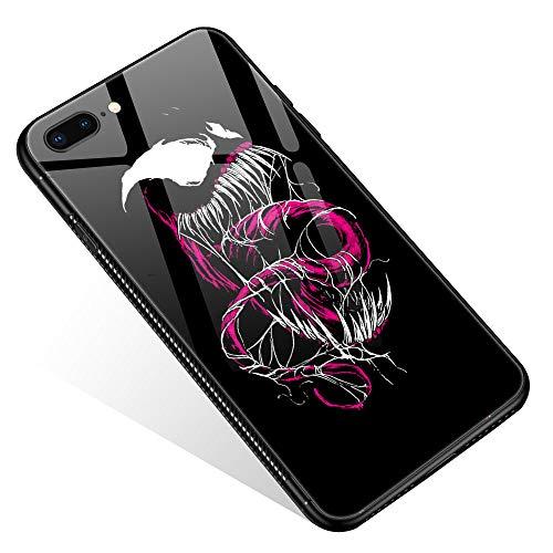 iPhone 8 Hülle, gehärtetes Glas, iPhone 7 Hüllen, iPhone SE 2020 Hüllen Monster für Frauen, Mädchen, Jungen, Muster, Design, stoßfest, kratzfest, Schutzhülle für Apple iPhone 7/8/SE2