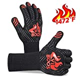 VIBOOS BBQ Grill Gloves, 1472℉ Extreme Heat Resistant Grilling Gloves for Cooking, Baking and for...