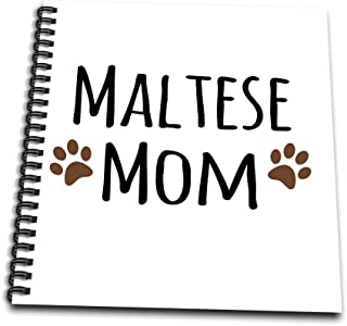 3dRose db_154156_3 Maltese Terrier Dog Mom Doggie by Breed Muddy Brown Paw Prints Doggy Lover Pet Owner Mama Mini Notepad,...