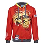 OMSE 3036 Sweat à capuche pour homme Ford Fiesta Extreme Rally Cross Rouge XS