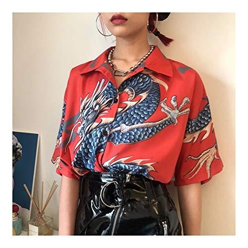 GODVC Trajes japonés Kimono Cardigan Mujeres Yukata Kimono de Sexo Femenino Chino de Kawaii de Harajuku Ropa Camisa de la Blusa Haori OBI (Color : 2, Size : One Size)