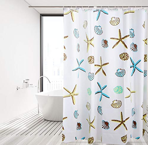 Gwotfy Cortinas de baño, Revestimientos para Cortinas de Ducha Cortinas de baño a Prueba de Agua Cortinas de baño con Ganchos Cortina de Ducha de baño Anti-Moho Cortina de bañera 180x180cm