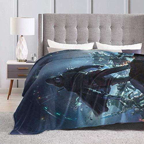Engshi Wohn Kuscheldecken Ultra-Soft Micro Fleece Throw Blanket Destiny for Saken Warm Luxury for Bed Sofa Garden Car