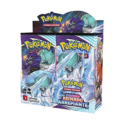 Box 36 Boosters Cards Sortidos Pokémon Espada e Escudo Reino Arrepiante Copag - 85373