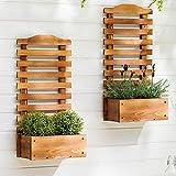 Scaffale per fiori, Piante da vaso in legno Supporto a muro per piante da appendere a parete 11,8 * 6,3 * 28,3 in fioriera per studio sul balcone
