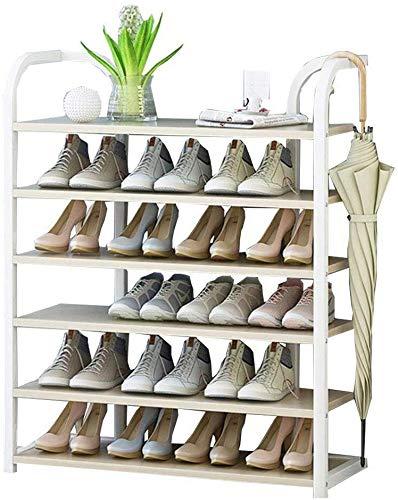 YLCJ schoenenrek verticaal voor planten, 90 cm breed, organizer frame van blikken + houten plank, ideaal voor hal, badkamer, woonkamer en hal (grootte: 90 x 27 x 110 cm)
