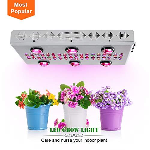 QAFOO 600 W LED Grow Light WiFi dimbaar COB volspectrum fabriek groeilamp tuinlamp binnenplanten lichte plant in pot grootte: 46,8 x 38,5 x 11,8 cm