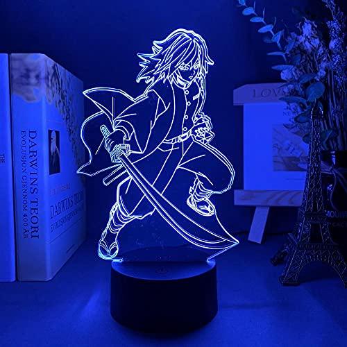 3D noche luz 3D lámpara ilusión escritorio lámpara anime demonio noche luz para dormitorio decoración niño regalo de cumpleaños manga lámpara Slayer cambio de color ZGTH