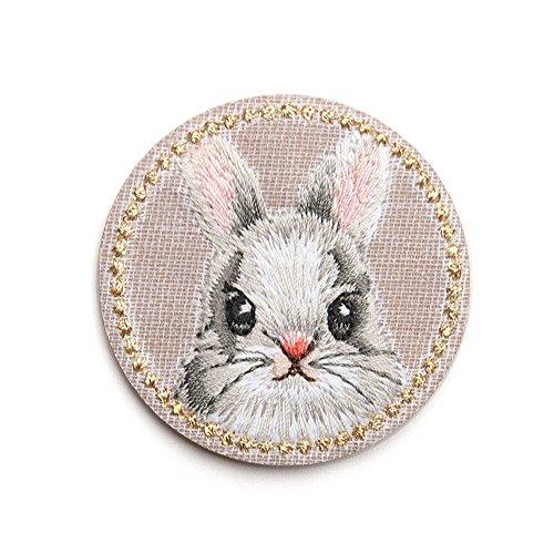 XUNHUI ウサギワッペン兎アップリケ兎動物衣服帽子刺繍手作り手芸アクセサリー 1枚