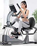 Recumbent Exercise Bike for Adults Seniors, Indoor Cycling Bike, with Adjustable Magnetic Resistance & Comfortable Seat Cushion, Stationary Bikes Bicycle