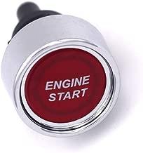 Push Start Ignition Switch - JOYHO Off-(ON) Momentary Engine Start Button Switch, Fit for 12V-24V Vehicles, Red LED Light