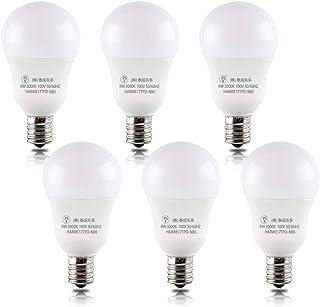Haian Support LED電球 E17 60w形 電球色 8W 750lm 3000K 6個入り 密閉器具対応不可 広配光タイプ 省エネ