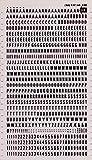 Lettres et chiffres transférables noirs.