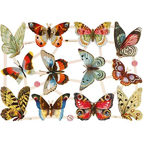 Glanzbilder, 16,5x23,5 cm, Schmetterlinge, 3 Blatt