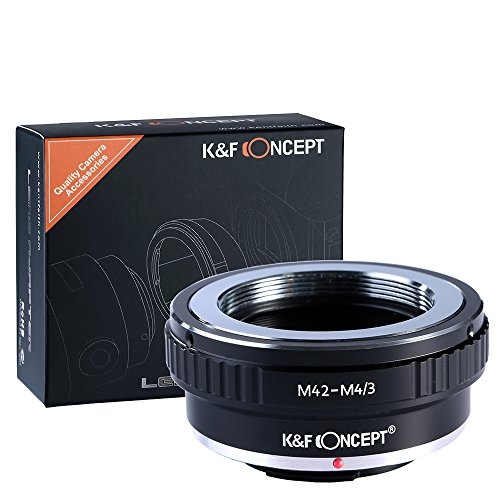 Anello Adattatore M42-M4/3, K&F Concept Screw Mount M42 Obiettivo a Fotocamera Olympus m43 E-P1/E-P2/E-PL1 e Panasonnic G1/G2/GF1/GH1/GH2.